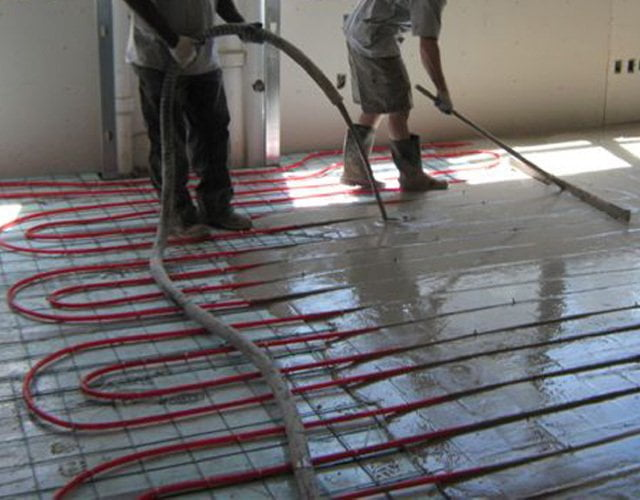 In Floor Heating System Pour it On
